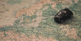 auto op wereldkaart